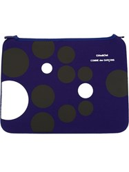 Comme Des Gara Ons Wallet Dotted Pouch Blue