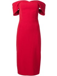 Christian Siriano Off The Shoulder Dress Red