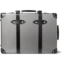 Globe Trotter Hypetex 20 Leather Trimmed Carbon Fibre Suitcase Gray