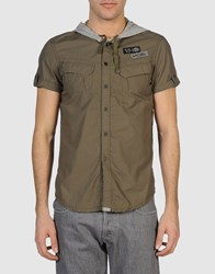 Energie Short Sleeve Shirts Military Green
