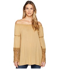 Scully Bardot Elegant Off The Shoulder Blouse Mustard Clothing Yellow