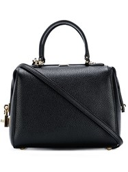 Dolce And Gabbana Mini 'Miss Sicily' Bowler Tote Black