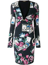 Roberto Cavalli Floral Print Dress Multicolour