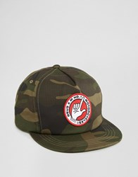 Deus Ex Machina 5 Panel Cap In Camo Green