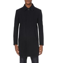 Idris Elba X Superdry Leading Wool Blend Trench Coat Navy