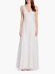 Adrianna Papell Beaded Gown Ivory