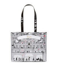Harrods Pink Balloons Tote Bag White