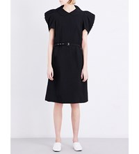 Comme Des Garcons Sculptural Woven Shirt Dress Black