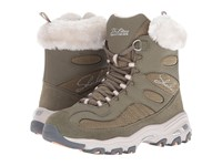 Skechers D'lites Chalet Olive Women's Lace Up Boots