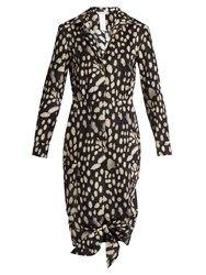 Max Mara Geo Dress Black Print
