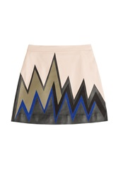 Emilio Pucci Printed Leather Mini Skirt Multicolor