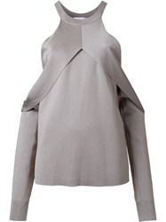 Dion Lee Sleeve Release Evening Blouse Grey
