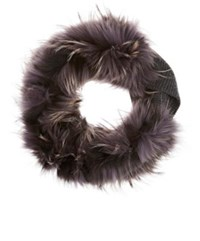 Lanvin Women's Fur And Cashmere Stole Dark Grey