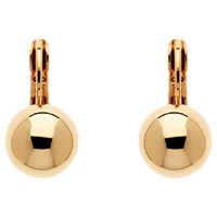 Finesse Ball Leverback Clip On Earrings Rose Gold