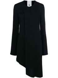 Lost And Found Rooms Asymmetric Fitted Jacket Black