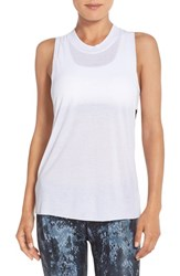 Alo Yoga Women's Alo 'Heat Wave' Ribbed Muscle Tank White