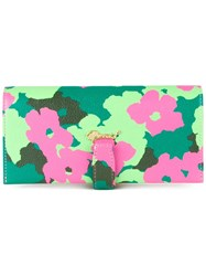 Muveil Floral Print Wallet Green