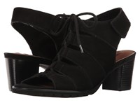 Walking Cradles Nola Black Nubuck Women's 1 2 Inch Heel Shoes