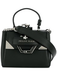Philipp Plein Small Boxy Tote Calf Leather Polyester Black