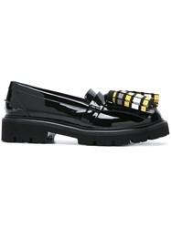 Msgm Oversized Tassel Loafers Black