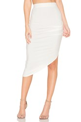 Twenty Ruched Midi Skirt Ivory