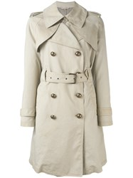 Fay Trench Coat Women Cotton Polyurethane M Nude Neutrals
