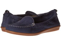Hush Puppies Endless Wink Navy Nubuck Women's Slip On Shoes Blue