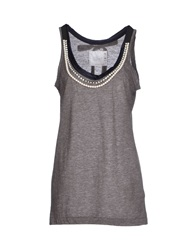 Sacai Tank Tops Grey
