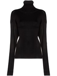 Bottega Veneta Ribbed Roll Neck Sweater Black