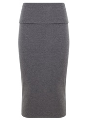 Mint Velvet Granite Jersey Midi Skirt Grey