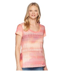 Marmot Logan Short Sleeve Hibiscus Blur Clothing Pink