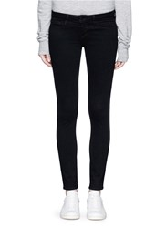 L'agence 'The Chantal' Skinny Ankle Grazer Pants Black