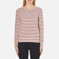 A.P.C. Women's Veronica Stripe Long Sleeve Top Red