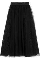 Bailey 44 Layered Tulle And Lace Skirt Black