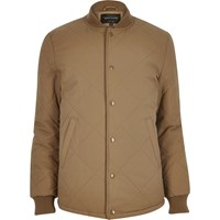 River Island Mens Brown Quilted Jacket
