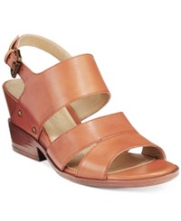 White Mountain Saute Dress Sandals Women's Shoes Luggage Tan