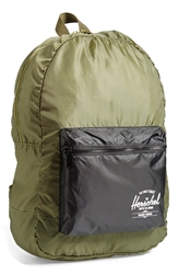 Herschel 'Packable Classic' Water Resistant Backpack Army Black