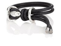 Giles And Brother Leather Wrap Bracelet Black
