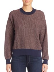 Tanya Taylor Metallic Palm Sweater Rust Multi