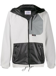 Lc23 Colour Block Zipped Jacket Grey