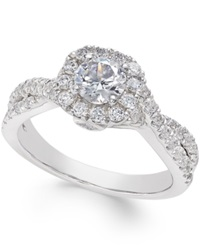 Macy's Diamond Twist Engagement Ring 1 1 4 Ct. T.W. In 14K White Gold