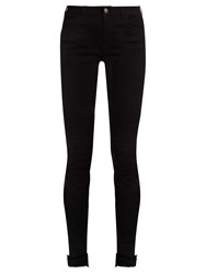 Gucci Tiger Applique High Rise Skinny Jeans Black