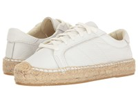 Soludos Platform Tennis Sneaker White Leather Women's Shoes