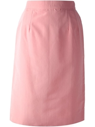 Lanvin Vintage High Waisted Pencil Skirt Pink And Purple