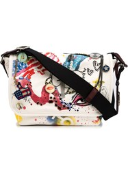 Marc Jacobs Small 'Collage Print' Messenger Bag White