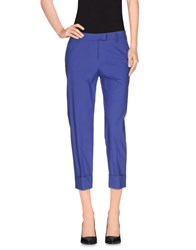 True Royal Trousers 3 4 Length Trousers Women Dark Purple