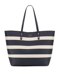 Cole Haan Beckett Striped Tote Bag Yellow White