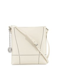 Charles Jourdan Nira Laser Cut Leather Crossbody Bag Bone