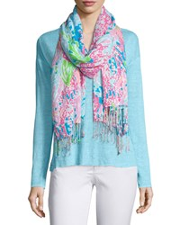 Lilly Printed Scarf Turquoise Lilly Pulitzer