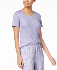 Charter Club Soft Knit Pajama Top Created For Macy's Lovely Lavendar